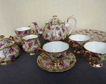 Old Country Roses, Chintz Tea Set