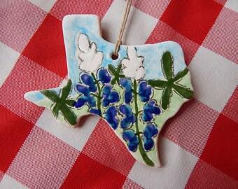 Texas Bluebonnet Ornament, Texas Wildflowers, Texas Ornament, Bluebonnets