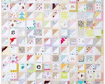 Half Square Triangle Variation Quilt Pattern (pdf file)