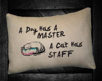 """Cats Staff  12""""x16"""" Pillow Set"""