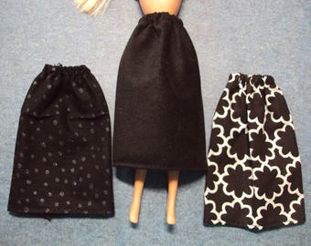 "Black Skirt for Barbie Dolls ~ Clothes for 11 1/2"" Fashion Dolls"