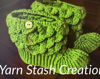 Crocdile stitch adult booties