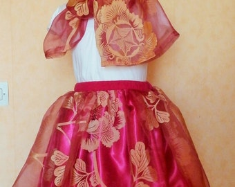 J2 - Pink and yellow skirt for a little girl
