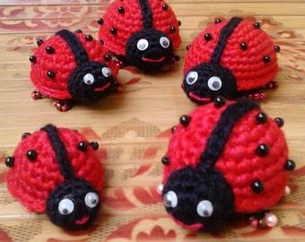 Amigurumi ladybug Crochet Ladybug Stuffed Ladybug Ladybird  Plush Toy Baby