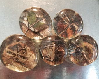 Handcrafted Glass Magnet Set - Camouflage