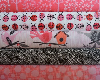 Lady Bug Rag Quilt Kit, Easy to Make, Personalized, Bin E, Optional Sewing Available