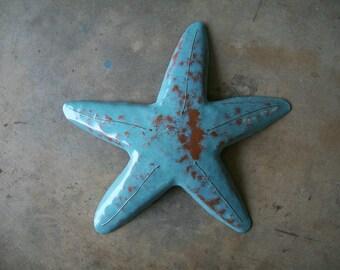 Starfish  16in x 16in Beach Tropical  Coastal Metal Art Sculpture Art