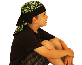 Jon's Children's Doo Rag - A Reversible Bandana, Cancer Hat, Chemo Headwear, Alopecia Scarf, Head Cover, Hair Loss , Cancer Gift