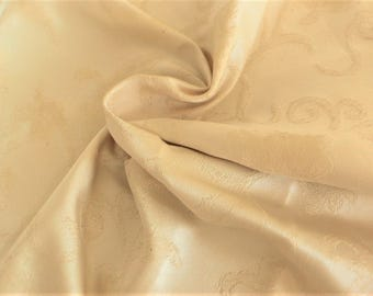 James Hare silk bridal silk remnant Cream floral // Dressmaking Dolls etc