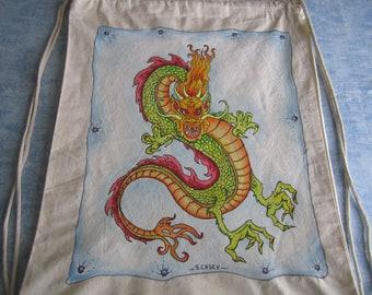 Dragon/Drawstring Backpack