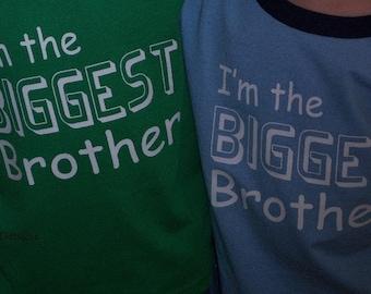 Big Brother shirt Bigger And Biggest Brother Shirts Set Of 2