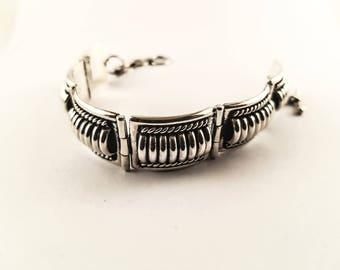 link bracelet // navajo bracelet // navajo jewelry // Thomas charley