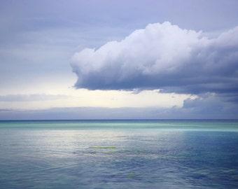 Ocean Cloudy Sunset Blue Sea Phillipines Art Photography