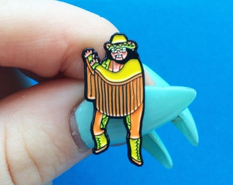 Macho Wrestling Enamel Pin