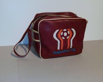 Vintage  Leather Sports Bag/Argentina 78/70s Brown Bag