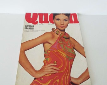 Vintage 1967 Queen Magazine Fashion Beauty Art Stirling Moss Travel Films Movies