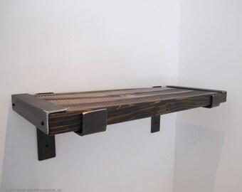 Rustic shelf, reclaimed wood shelf, bar shelves,Modern kitchen shelving, Industrial shelving, MADE TO ORDER