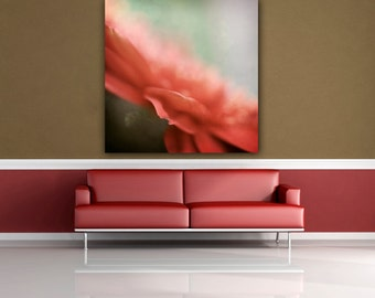Canvas Print, Ready to Hang Floral Canvas, Living Room Wall Art, Bedroom Decor, Square 20x20 Gallery Wrap Canvas Wall Art, Limited Edition