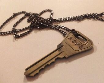 Custom stamped key - HOPE