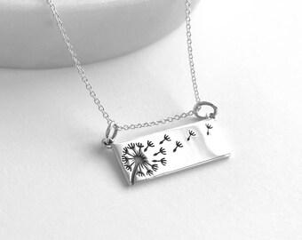 Dandelion Necklace - Silver Dandelion - Dandelion Jewelry