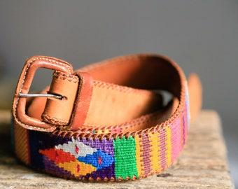Handmade  Belt | Embroidered Belt | Handmade Leather Belt | Colourful Handmade Belt | Vintage Leather Belt | Ethnic Leather Belt