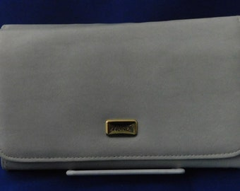 Mundi Light Taupe Faux Leather Purse with Matching Check Book Cover
