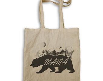 Mama Bear Wild Nature Tote bag u339r