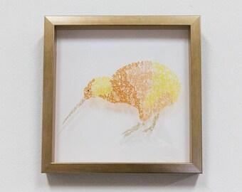 Kiwi :Art Calligraphy, Print on acrylic board