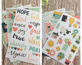 Faith Planner Sticker Sheets by Simple Stories