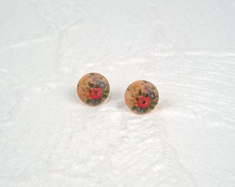 Studs Button Rose Flowers