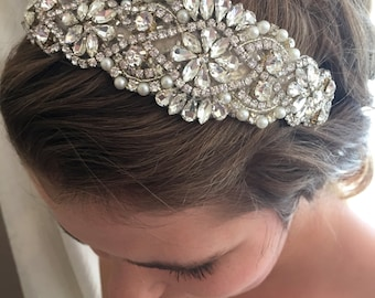 Bridal Headband - Wedding Headband - Bridal Headpiece- Bridal Hairpiece - Simply Beautiful