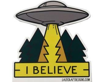 "UFO Vinyl Sticker 3"""