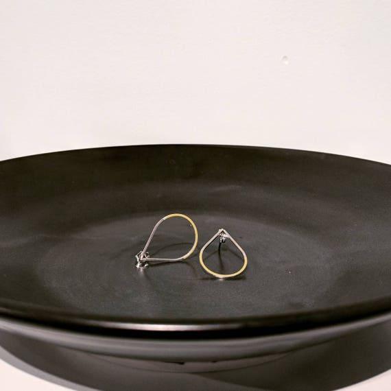Sterling and enamel teardrops earrings