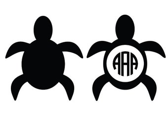 Turtle svg, sea turtle clipart - turtle monogram svg file - trutle digital download