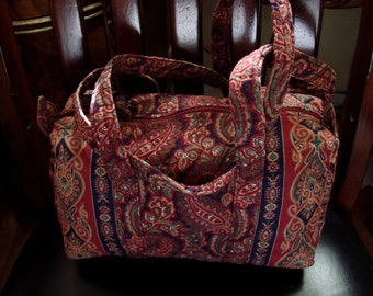 Vera Bradley Indiana Original Paisley Pattern 100 Style Shoulder Bag Mint Condition Extremely Rare Find