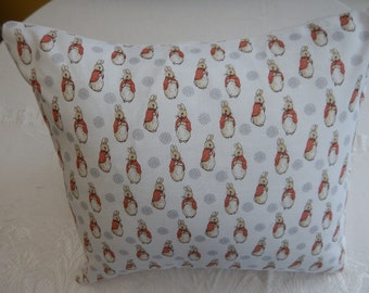 Cushion hand-made in Peter Rabbit 'Flopsy Bunny' fabric