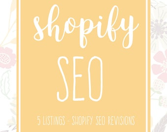 Shopify SEO - 5 Shopify Listing - Shopify Help - Product SEO - Listing Critiques - Shop Improvements - Website SEO - Shopify Optimization