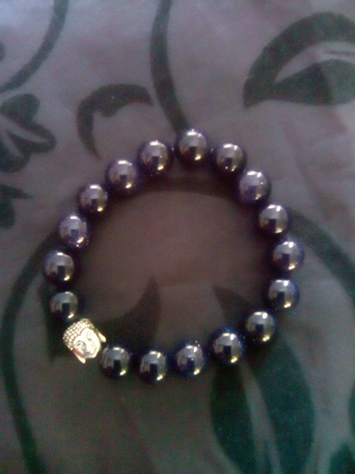 hematite crystal stretch skull bracelet beads swarovski premium products bead