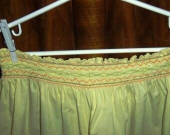 vintage apron ... SMOCKED SWEETNESS apron ...