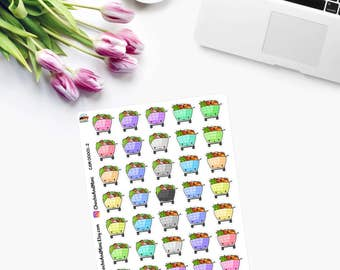Itty Bitty FOOD SHOPPING -  Planner Stickers  - CAM00001-2