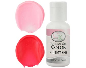 Holiday Red CK Gel Paste Food Coloring - high quality food coloring for icing, frosting, cookie dough and more