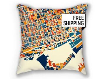 Toronto Map Pillow - To Map Pillow 18x18