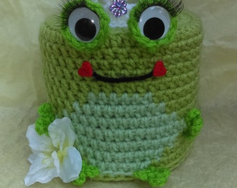 Frog princess toilet paper cover