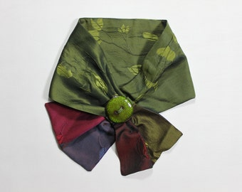 Elegant pure silk neck scarf