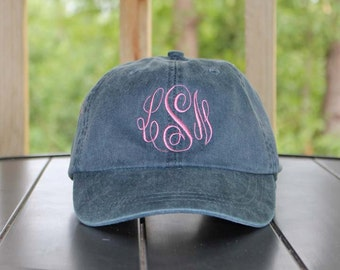Monogrammed Hat Set of 2 Baseball Cap, Bridesmaid Gift, Groomsman Gift, Personalized, Monogrammed