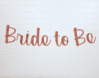 Gold Bride To Be Banner | Gold Bridal Banner | Gold Bridal Shower Banner | Bridal Shower Decorations | Bridal Shower Banner | Bride to Be