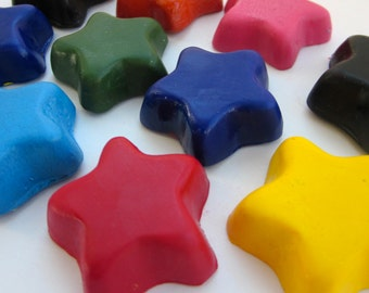 CRAYONS Eco Friendly Handmade Natural Soy Coloring CRAYONS Mini Stars Crayons, Eco Toy, Gift for Kids, Kids Craft, Party Favor, Birthday