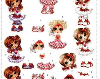 107 - Image sheet by cutting girl sherri baldy