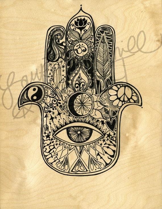 11x14 Large Print, Hamsa Art by Lauren Tanehill ART