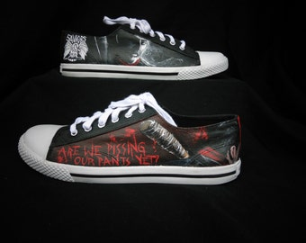 The Walking Dead Negan and Lucille Handpainted Shoes